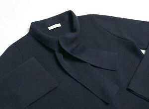 LE TRICOT PERUGIA WOMEN S WOOL SILK CASHMERE CARDIGAN KNIT JUMPER JACKET NAVY