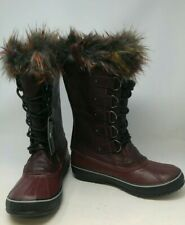 SOREL Women's Joan of Arctic Lux Leather Fashion Winter Boots Size 10.5
