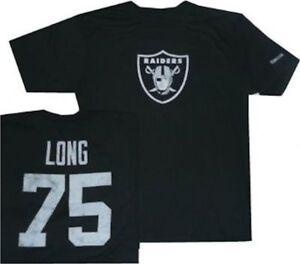 Oakland Raiders Howie Long Reebok Throwback Pro Style Oversized T Shirt $32