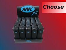 50 Full Size Mk Jet Grip Disposable Cigarette Lighters, bic butane torch new!