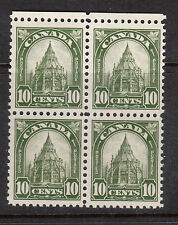 Canada #173i VF/NH Block With UR Missing Spire Variety