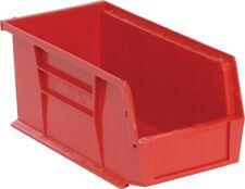 """QUS230 Quantum Plastic Storage Stacking Bin 10"""" x 4"""" x 4"""" Red Carton of 12"""