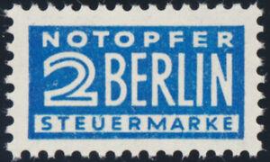 NOTOPFER BERLIN, MiNr. 8 Y, tadellos postfrisch, Mi. 70,-
