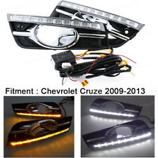 Daytime Running Light DRL LED Turn Signal Fog Lamp For Chevrolet Cruze 2009-2013