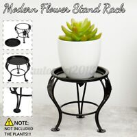 Modern Black Flower Stand Plant Rack Metal Shelf Balcony Indoor Home Decor Pot