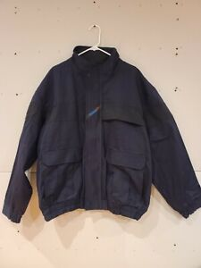 Workrite FR Bomber Jacket Size XL Navy UNLINED embroidered Logo 12.4 ATPV