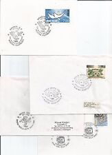 Italy 1995 - 2001 Aeronautics Aviation Space Spazio Geneoa Acuto Padua Cover x 4