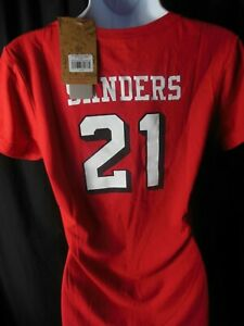 San Francisco 49ers Deion Sanders#21 NFL Women's Mitchell & Ness Shirt