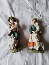 Lefton China #728 Collectible boy and girl shepherd figurines