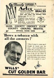 Gloucestershire v Cambridge University Scorecard 1950