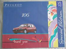 Peugeot 106 Mardi Gras brochure c1994