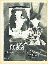 Publicité Advertising 117  1955  parfum Ilka de la parienne L.T Piver  Thevenet