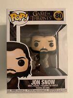 Funko Pop! Game Of Thrones: Jon Snow #80 W/ Pop Protector