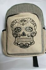 Himalayan Hemp Medium Skull Rucksack Backpack Bag Fairtrade Handmade Nepal boho