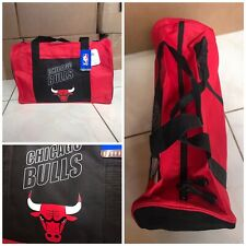 2b532130d76f NBA Chicago Bulls duffle gym bag in red and black with team logo!
