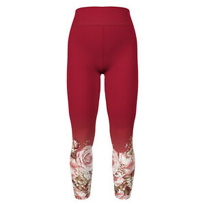 OS LuLaRoe One Size Leggings Amore Valentine 2021 Dipped Hem Roses Pink F17