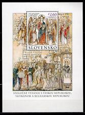 """2013 SLOVACCHIA """"GRANDE MORAVIA, CIRILLO E METODIO"""" congiunta VATICANO M/S MNH**"""