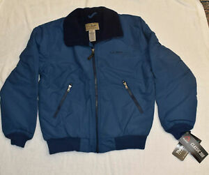 Men's L.L. Bean Warm-Up Jacket, Fleece Lined Small, Thinsulate, New with Tags S