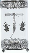 Hurricane Tealight Rotary Carousel Christmas Gift for Yankee Tea Light Snowman