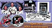 Apollo 11 50th Anniversary #6 Envelope Glossy Paper Collage Aldrin  Suit on Moon