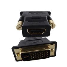 HDMI auf/zu DVI D Adapter vergoldet FULL 1080P HD TV 24+1 19pol Buchse Verbinder