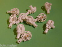 Lego 10 rotations blanches set 8106 8771 8704 /10 white Technic Rotation Joint