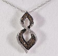 .31 CTW Diamond & Chocolate Diamond Necklace By Anna Quinn 10 K White Gold 19""