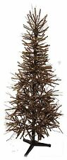 Pre-Lit 5 ft German Twig Pine Tree Christmas Country Metal Base NEW XT7F0003