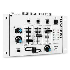3 / 2 Channel Compact DJ Stereo Karaoke Mixer 2x Mic in