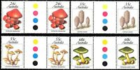 Australia 1981 Australian Fungi  Traffic Light Gutter Pairs  SG.823/826 Mint MNH