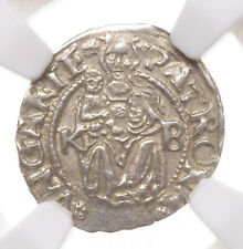 HUNGARY. Ferdinand I, Silver Denar, 1545-KB, NGC MS62