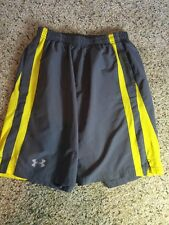 Under Armour Mens Small Grey Athletic Draw String Shorts Heatgear Kd1
