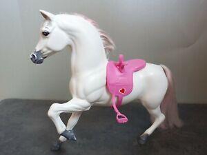 """♥ BARBIE PFERD ♥ Dream Horse """"Prancer"""" / Schimmel mit Sattel ♥ 1983 Horse #7263"""