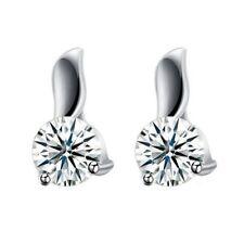 925 Sterling Silber Ohrstecker Tropfen Fashion Zirkonia Damen Ohrringe 5mm