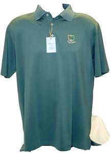 Pine Valley Golf Club Peter Millar Summer Comfort Polo Golf Shirt Green SZ Large