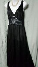 Anthony Richards Black Nightgown Long Sleeveless Sexy S  M  L  1X  2X  3X  4X