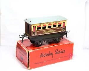 Hornby O Gauge M1/2 Pullman Coach In Its Original Box - Excellent Vintage