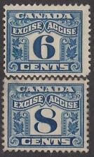 Canada 2-Leaf Excise Revenues van Dam #FX40-41 mint/unused 6c 8c 1915 cv $15