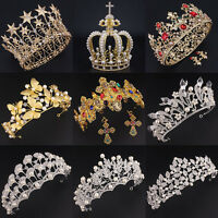 Wedding Bridal Women Headband Party Prom Pageant Crystal Gold Silver Tiara Crown