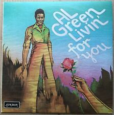 AL GREEN   Livin' For You   RARE '73 UK LONDON PLUM label  SHU 8464 vinyl LP Ex!