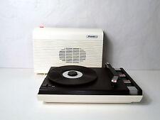 Tourne-disque Platine Vinyle Valise Portable Blanche Marron Orange Brandt