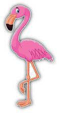 Cartoon Flamingo Car Bumper Sticker Decal 3'' x 6''