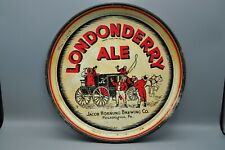 Vintage 1930's Londonderry Ale Jacob Hornung Brew Co Phila Pa Beer Tray 13""