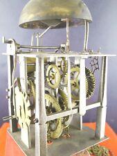 wunderbare Laternenuhr um 1750 Hakengang Weckerscheibe Eisenuhr
