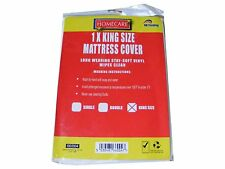King Size Vinyl Plastic Fitted Mattress Bed Cover Sheet Protector