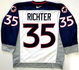 MIKE RICHTER TEAM USA 1998 NAGANO OLYMPICS NIKE AUTHENTIC JERSEY 48 RANGERS RARE