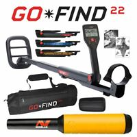 Minelab GO-FIND 22 Metal Detector with PRO-FIND 15 Pinpointer & Black Carry Bag