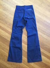 Dark Stenciled Seafarer Bell Bottom High Rise Jeans Vtg 29R  midshipmen Usn