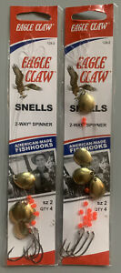 2 Packs Eagle Claw 2-Way Spinner Snells Spinner Rigs Size 2 129-2