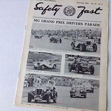 Safety Fast MG Car Club Magazine MG Grand Prix September 1980 070217nonrh